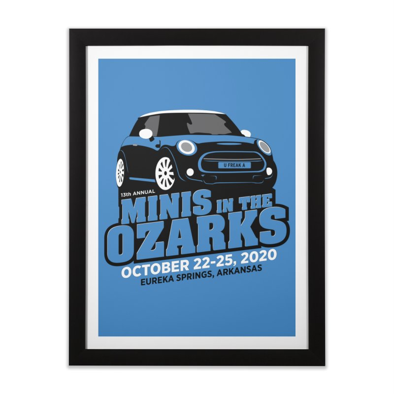 MINIS in the Ozarks 2020 Home Framed Fine Art Print by TwistyMini Motoring Shirts