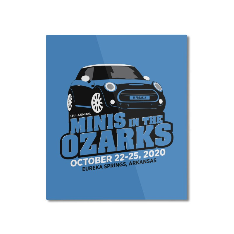 MINIS in the Ozarks 2020 Home Mounted Aluminum Print by TwistyMini Motoring Shirts