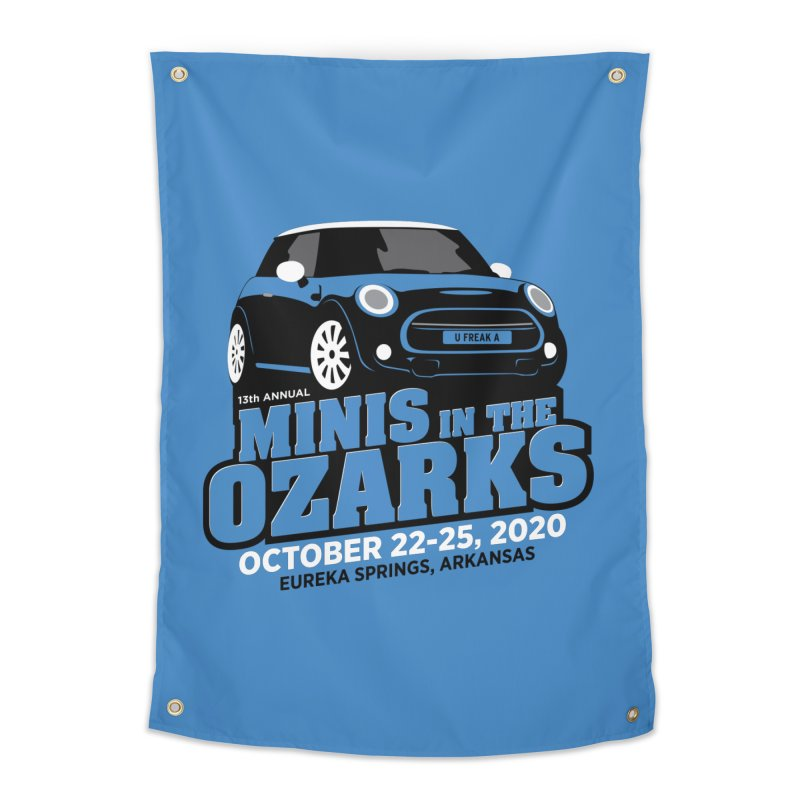 MINIS in the Ozarks 2020 Home Tapestry by TwistyMini Motoring Shirts