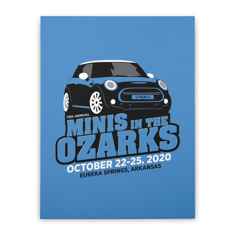 MINIS in the Ozarks 2020 Home Stretched Canvas by TwistyMini Motoring Shirts