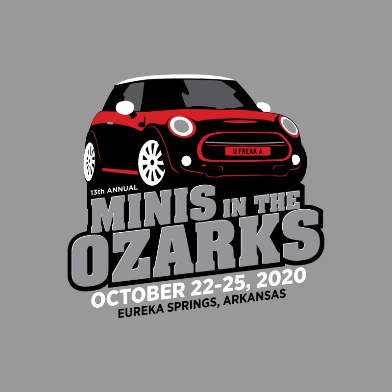 MINIS in the Ozarks 2020 - Red Car Accessories Beach Towel by TwistyMini Motoring Shirts