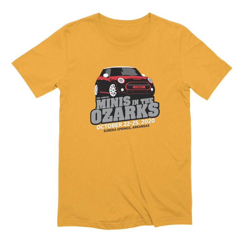 MINIS in the Ozarks 2020 - Red Car Men's Extra Soft T-Shirt by TwistyMini Motoring Shirts