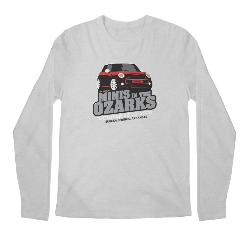 MINIS in the Ozarks 2020 - Red Car Men's Regular Longsleeve T-Shirt by TwistyMini Motoring Shirts