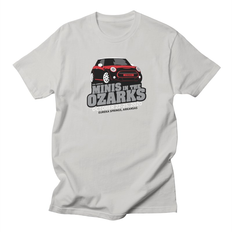 MINIS in the Ozarks 2020 - Red Car Women's Regular Unisex T-Shirt by TwistyMini Motoring Shirts