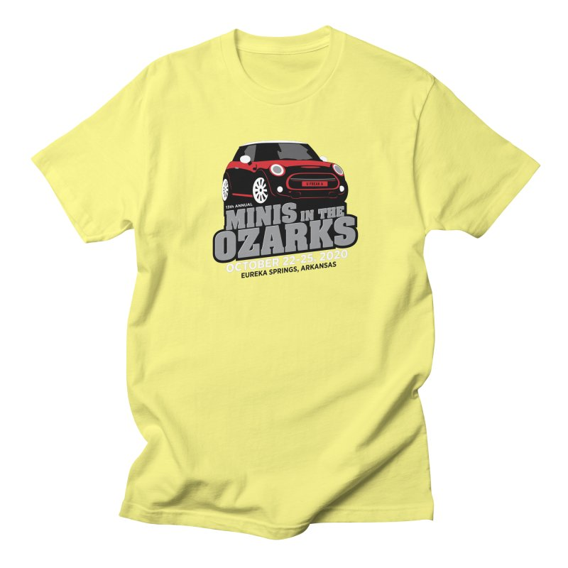 MINIS in the Ozarks 2020 - Red Car Men's Regular T-Shirt by TwistyMini Motoring Shirts