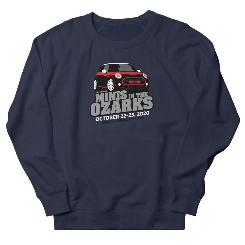 MINIS in the Ozarks 2020 - Red Car Women's French Terry Sweatshirt by TwistyMini Motoring Shirts