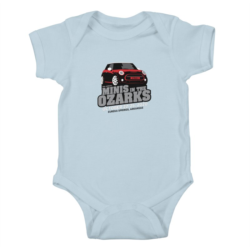 MINIS in the Ozarks 2020 - Red Car Kids Baby Bodysuit by TwistyMini Motoring Shirts