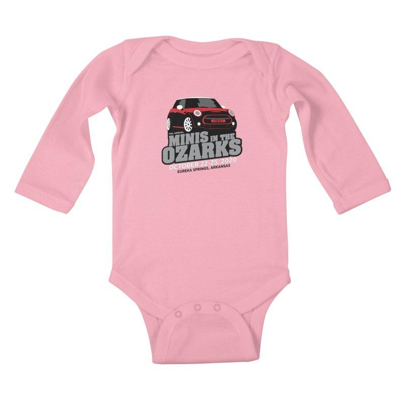 MINIS in the Ozarks 2020 - Red Car Kids Baby Longsleeve Bodysuit by TwistyMini Motoring Shirts