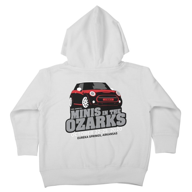 MINIS in the Ozarks 2020 - Red Car Kids Toddler Zip-Up Hoody by TwistyMini Motoring Shirts