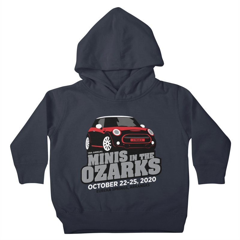 MINIS in the Ozarks 2020 - Red Car Kids Toddler Pullover Hoody by TwistyMini Motoring Shirts
