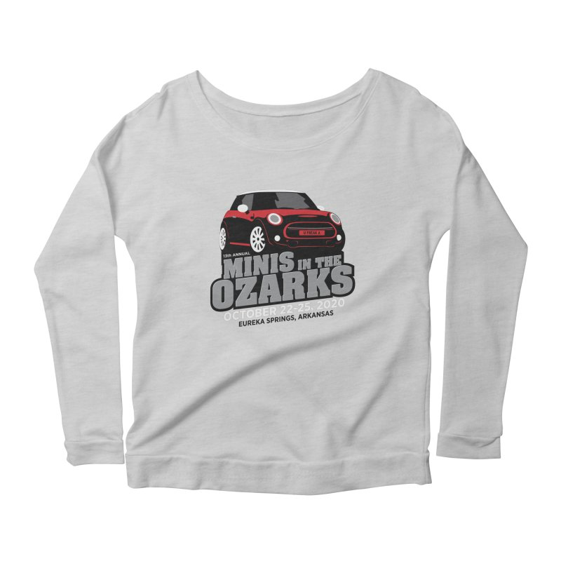 MINIS in the Ozarks 2020 - Red Car Women's Scoop Neck Longsleeve T-Shirt by TwistyMini Motoring Shirts