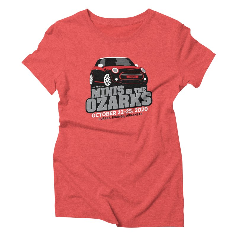 MINIS in the Ozarks 2020 - Red Car Women's Triblend T-Shirt by TwistyMini Motoring Shirts