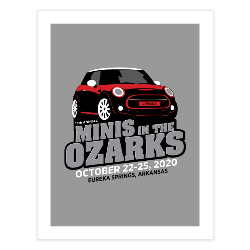 MINIS in the Ozarks 2020 - Red Car Home Fine Art Print by TwistyMini Motoring Shirts