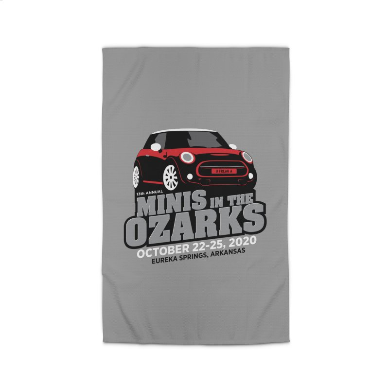 MINIS in the Ozarks 2020 - Red Car Home Rug by TwistyMini Motoring Shirts