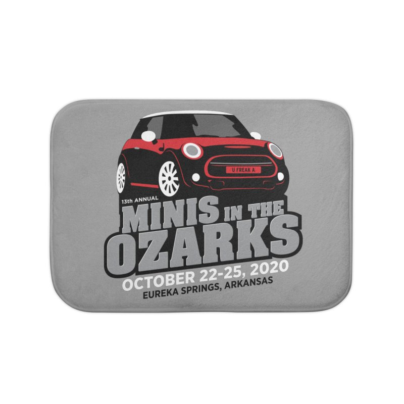 MINIS in the Ozarks 2020 - Red Car Home Bath Mat by TwistyMini Motoring Shirts
