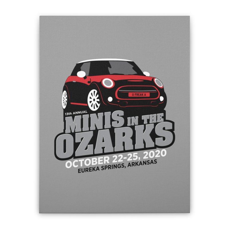 MINIS in the Ozarks 2020 - Red Car Home Stretched Canvas by TwistyMini Motoring Shirts
