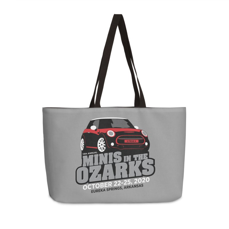 MINIS in the Ozarks 2020 - Red Car Accessories Weekender Bag Bag by TwistyMini Motoring Shirts