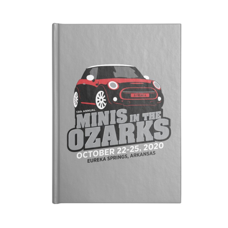 MINIS in the Ozarks 2020 - Red Car Accessories Lined Journal Notebook by TwistyMini Motoring Shirts
