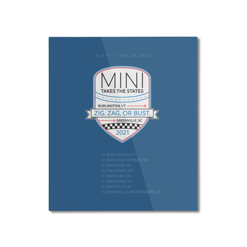 MTTS 2021 Checklist Home Mounted Aluminum Print by TwistyMini Motoring Shirts