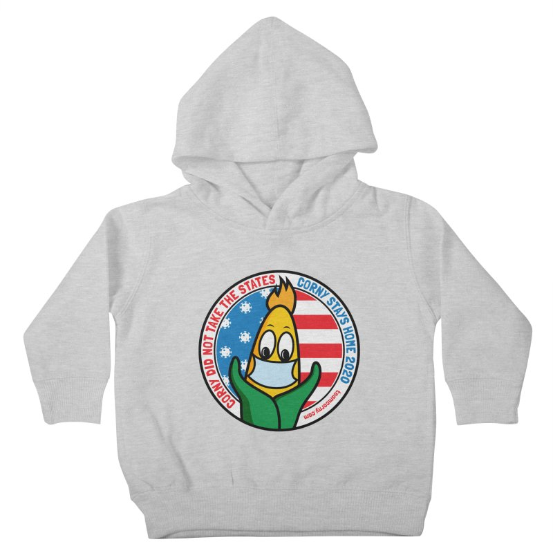 Corny Did Not Take the States 2020 Kids Toddler Pullover Hoody by TwistyMini Motoring Shirts
