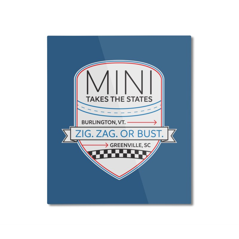 Mini Takes the States 2021 Home Mounted Aluminum Print by TwistyMini Motoring Shirts