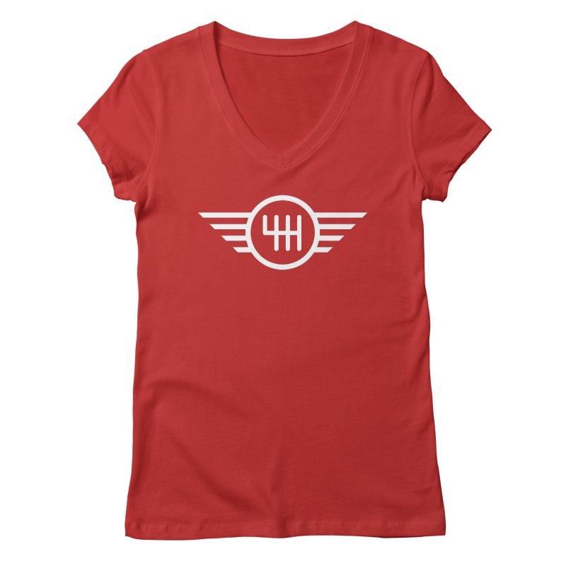 6-Speed Manual Women's Regular V-Neck by TwistyMini Motoring Shirts