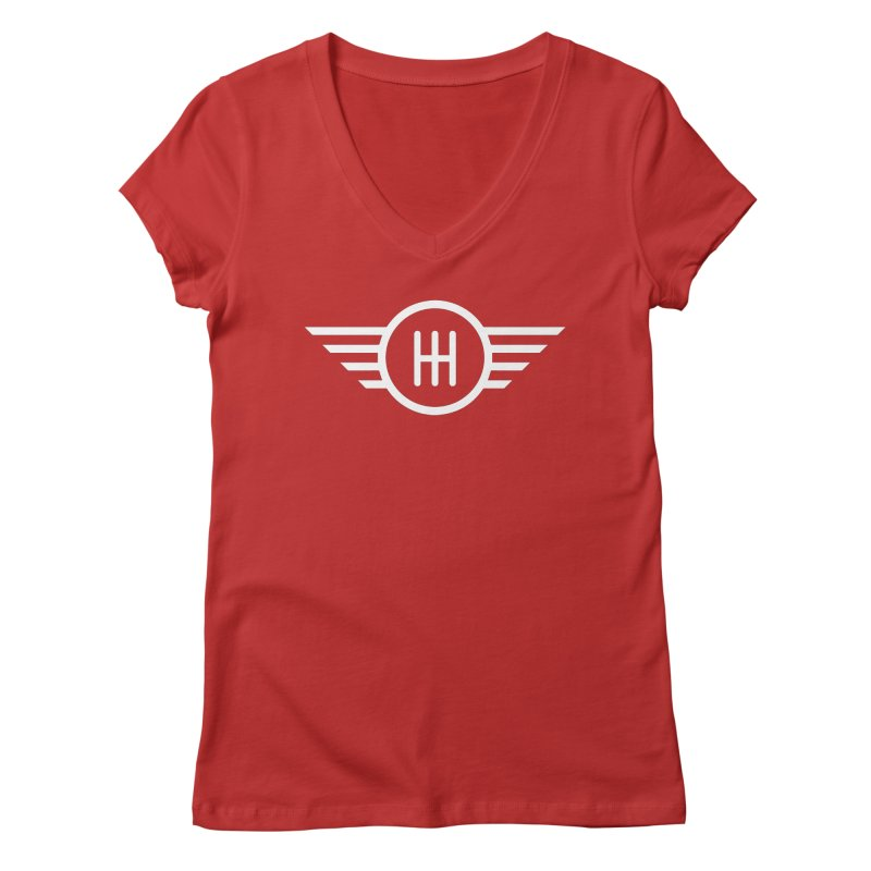 5-Speed Manual Women's V-Neck by TwistyMini Motoring Shirts