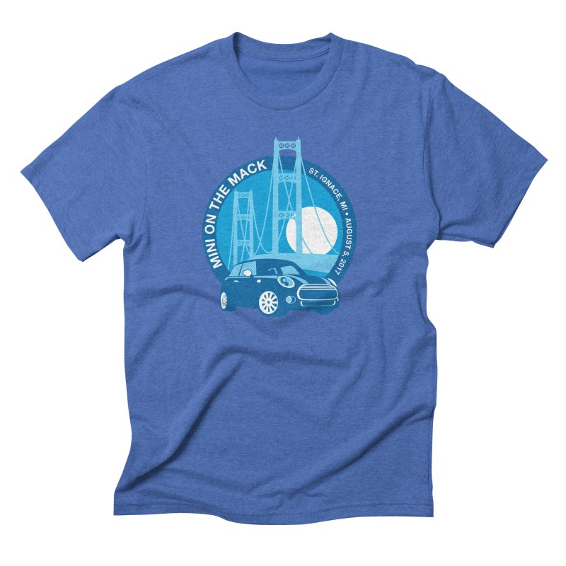 MINI on the Mack 2017 Men's Triblend T-Shirt by TwistyMini Motoring Shirts