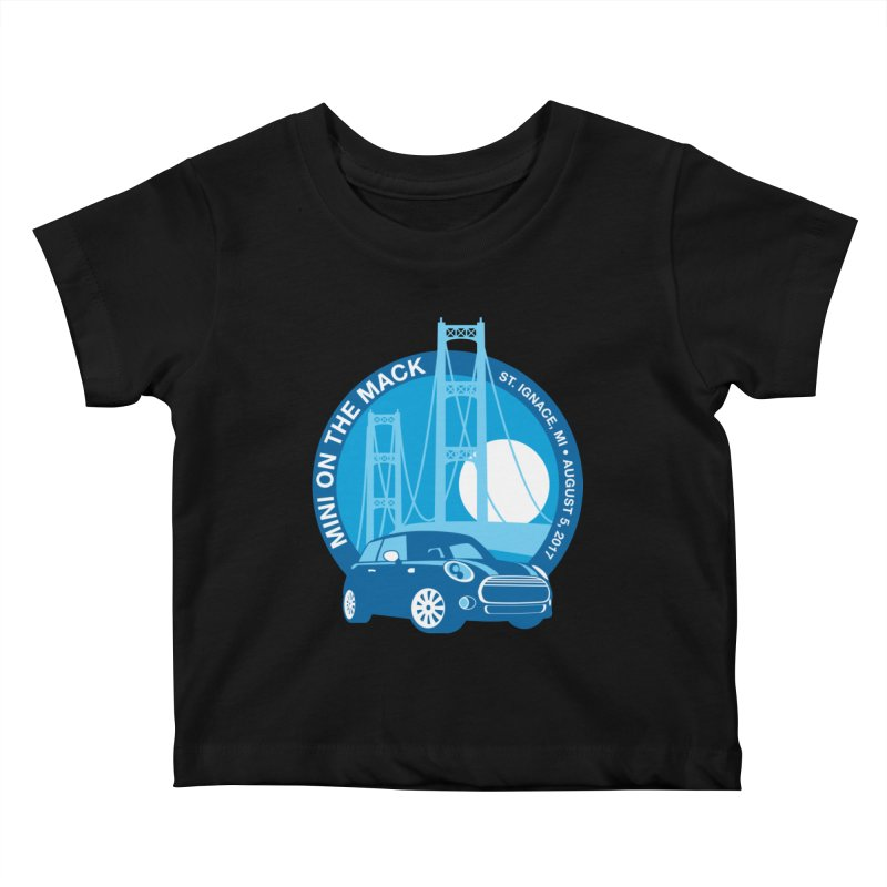 MINI on the Mack 2017 Kids Baby T-Shirt by TwistyMini Motoring Shirts