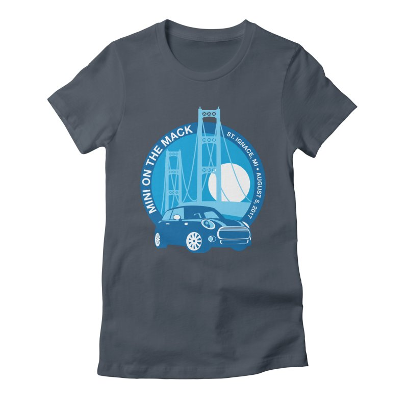 MINI on the Mack Women's Fitted T-Shirt by TwistyMini Motoring Shirts