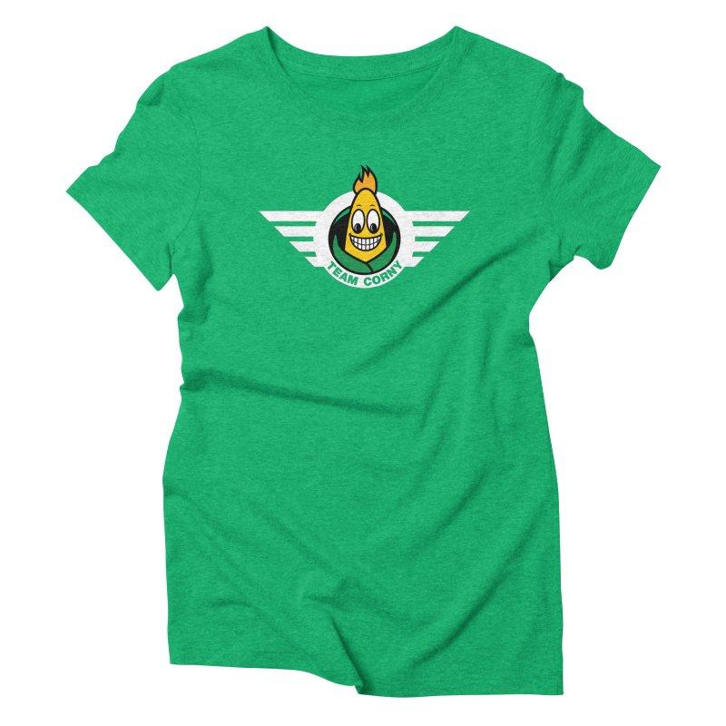 Team Corny Women's Triblend T-Shirt by TwistyMini Motoring Shirts
