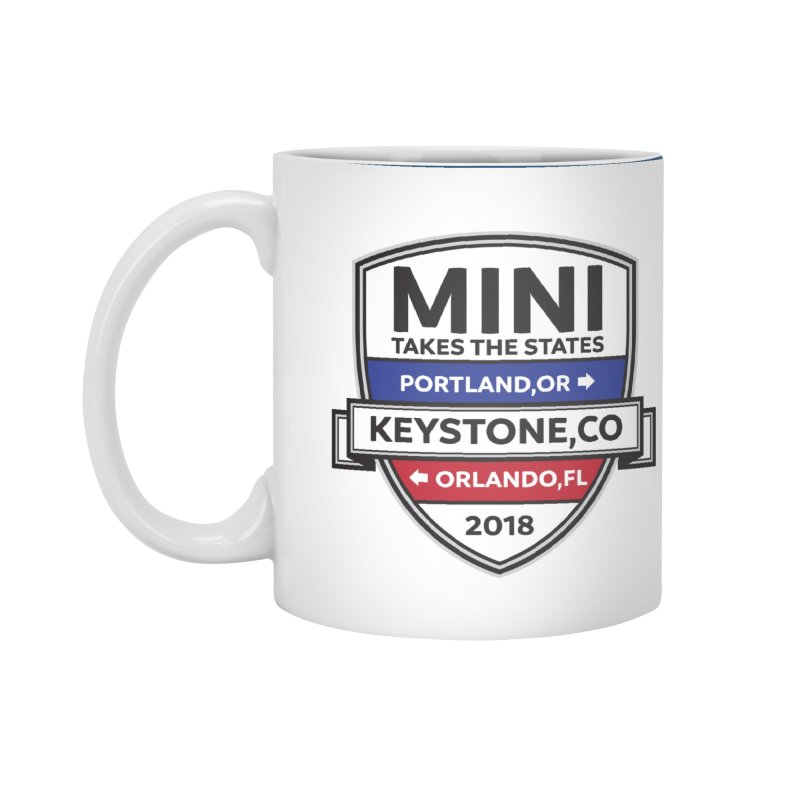 Mini Takes the States (Color) Accessories Mug by TwistyMini Motoring Shirts