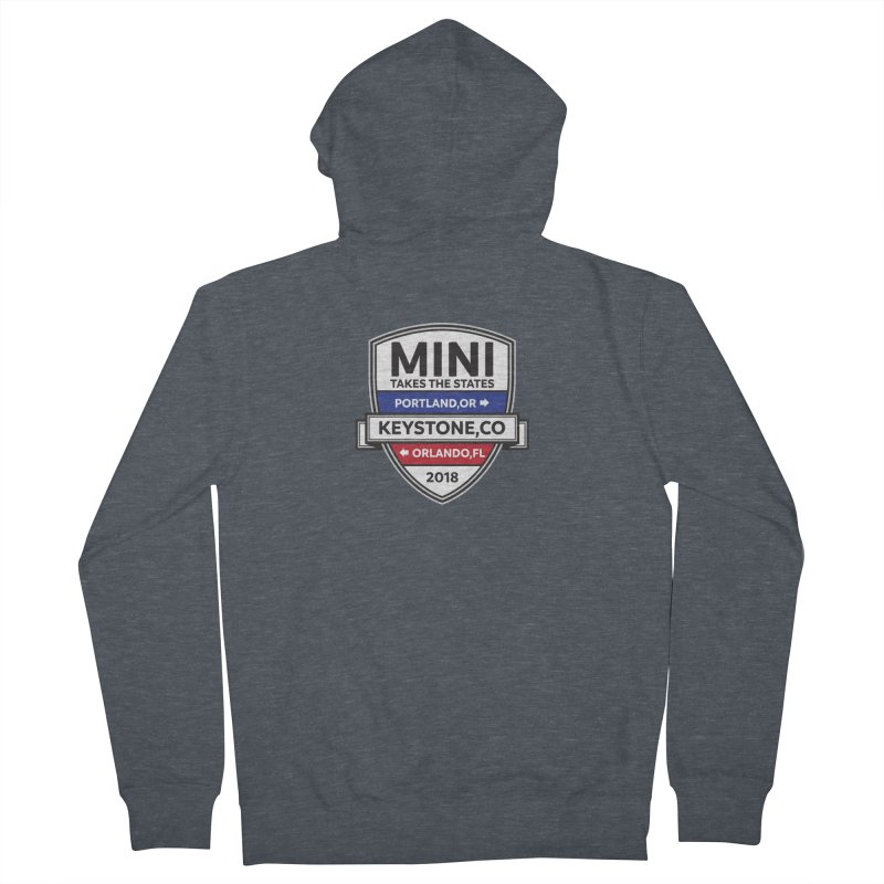 Mini Takes the States (Color) Women's Zip-Up Hoody by TwistyMini Motoring Shirts