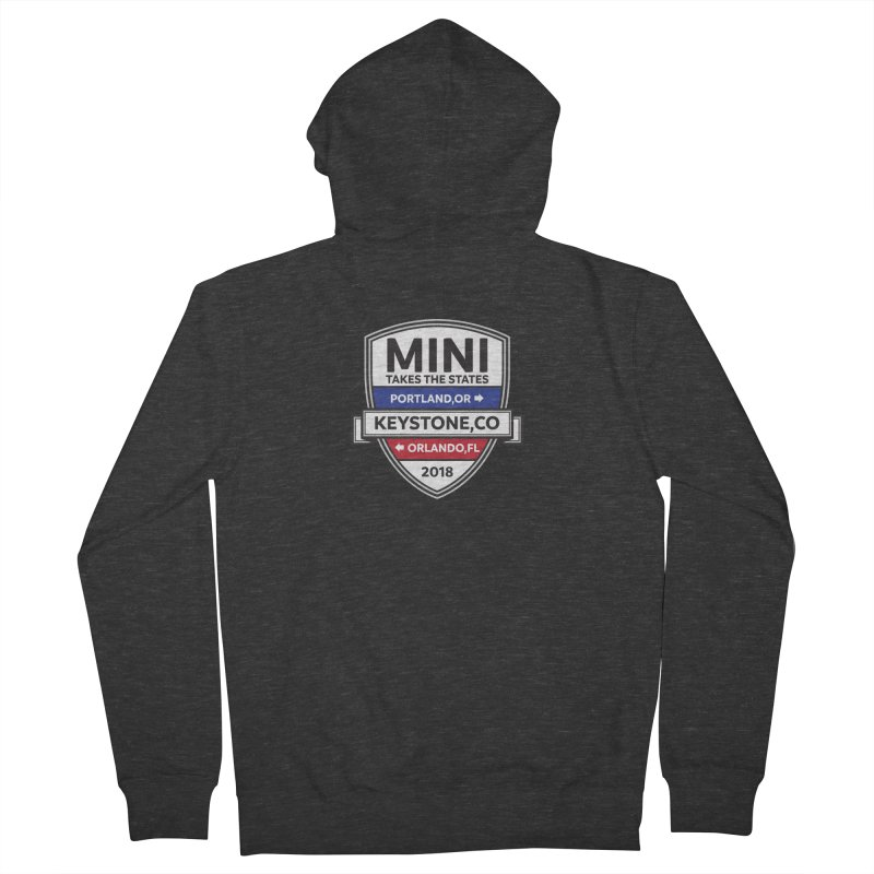 Mini Takes the States (Color) Men's Zip-Up Hoody by TwistyMini Motoring Shirts