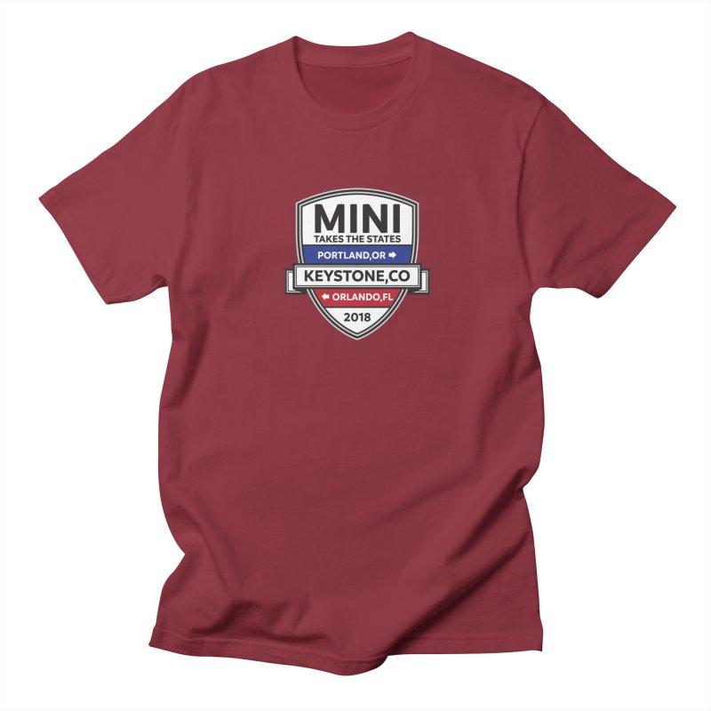 Mini Takes the States (Color) Men's T-Shirt by TwistyMini Motoring Shirts