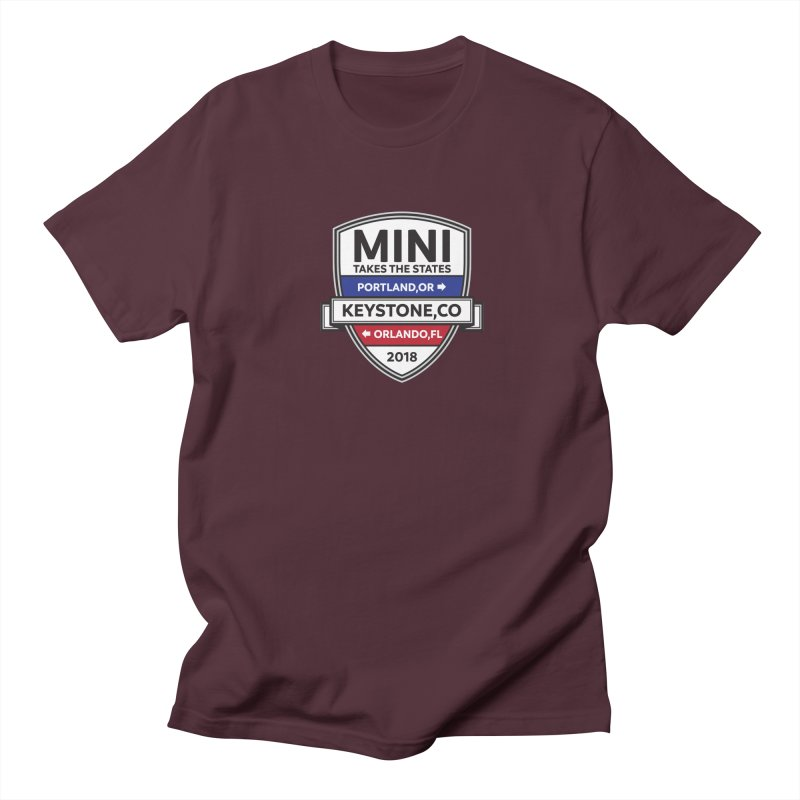 Mini Takes the States (Color) Men's T-Shirt by TwistyMini Motoring Shirts