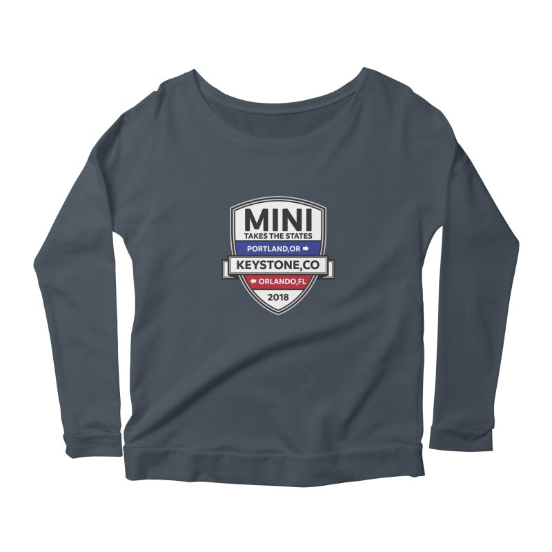 Mini Takes the States (Color) Women's Longsleeve Scoopneck  by TwistyMini Motoring Shirts