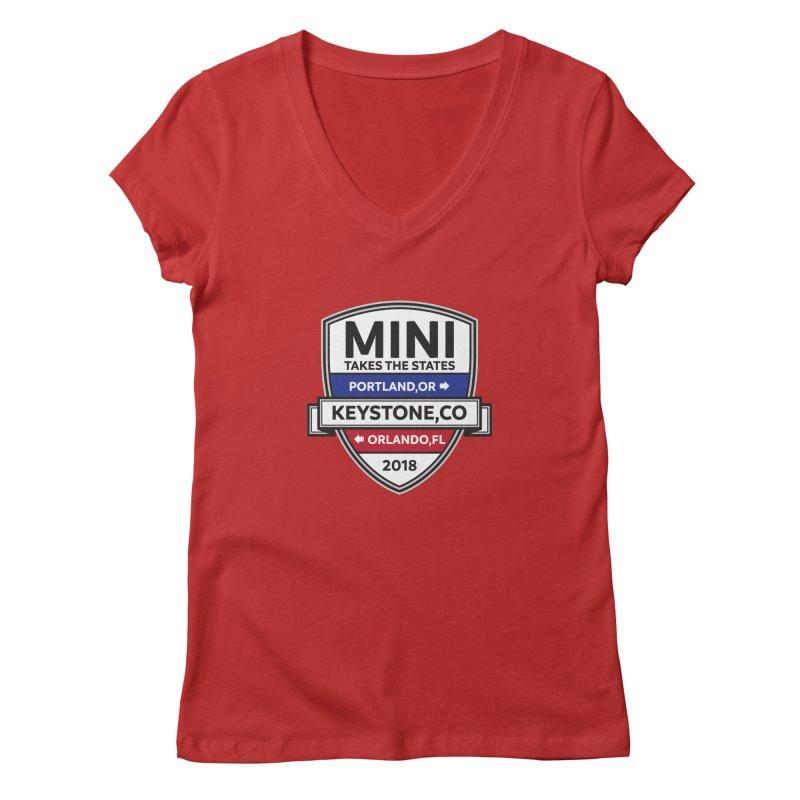 MTTS 2018 - Color Women's Regular V-Neck by TwistyMini Motoring Shirts