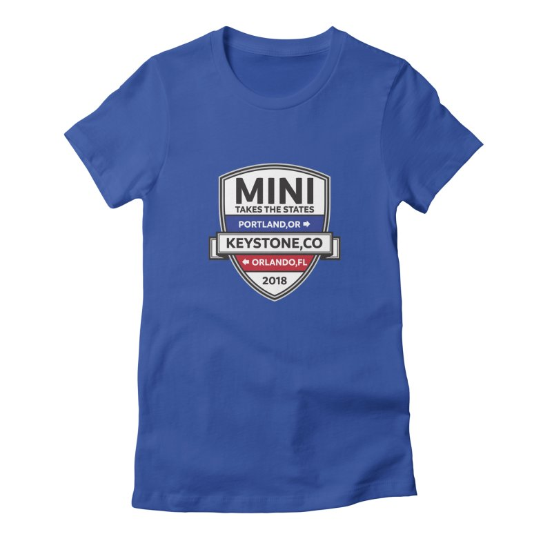 Mini Takes the States (Color) Women's Fitted T-Shirt by TwistyMini Motoring Shirts
