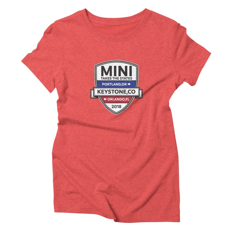 Mini Takes the States (Color) Women's Triblend T-Shirt by TwistyMini Motoring Shirts