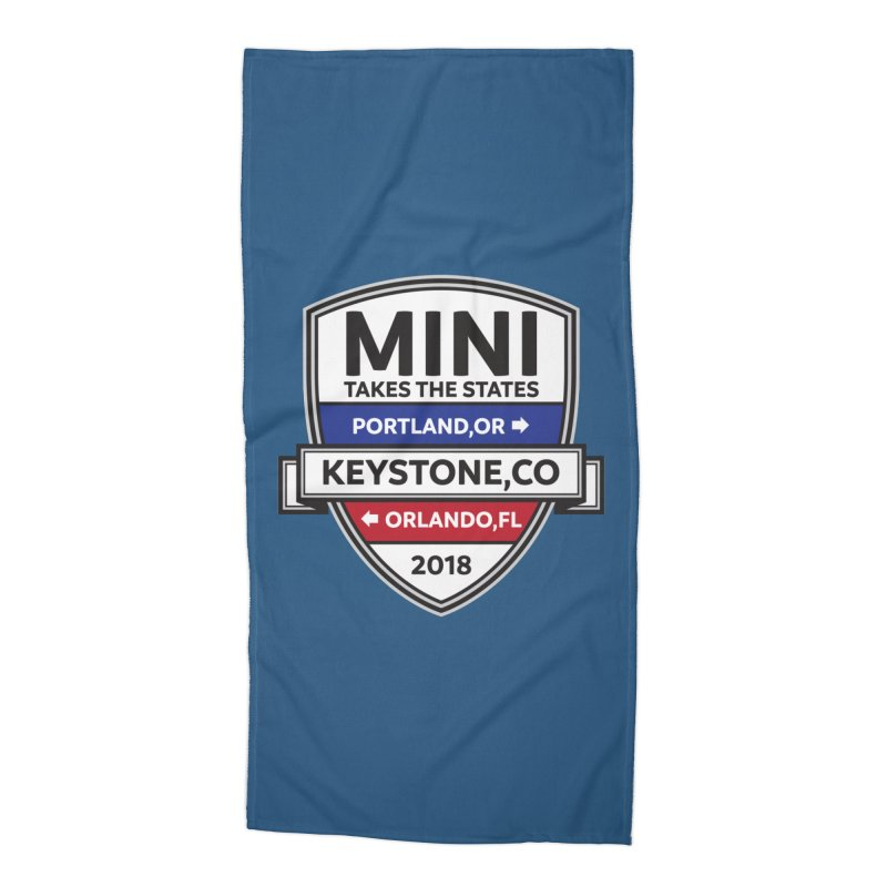 Mini Takes the States (Color) Accessories Beach Towel by TwistyMini Motoring Shirts