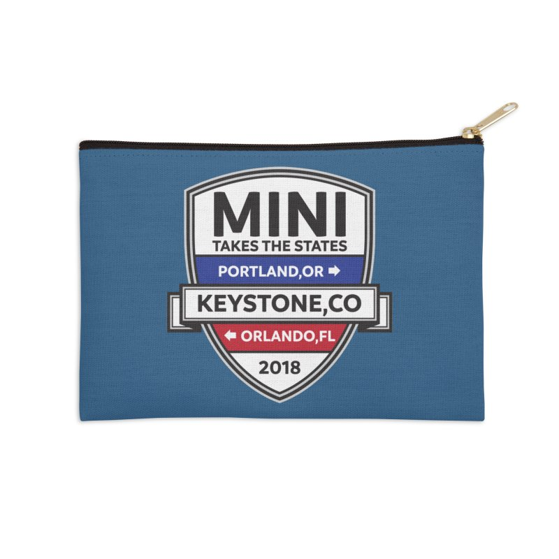 Mini Takes the States (Color) Accessories Zip Pouch by TwistyMini Motoring Shirts