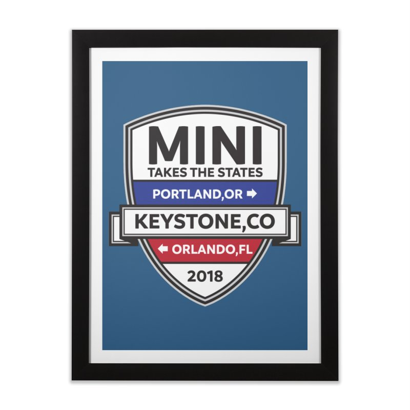MTTS 2018 - Color Home Framed Fine Art Print by TwistyMini Motoring Shirts