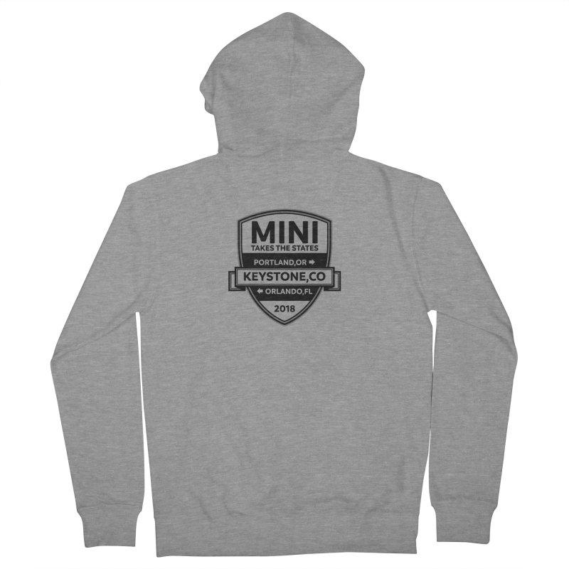 Mini Takes the States 2018 (Black) Women's Zip-Up Hoody by TwistyMini Motoring Shirts