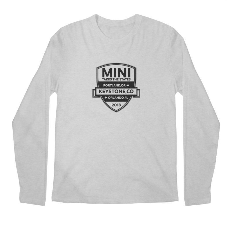 Mini Takes the States 2018 (Black) Men's Longsleeve T-Shirt by TwistyMini Motoring Shirts