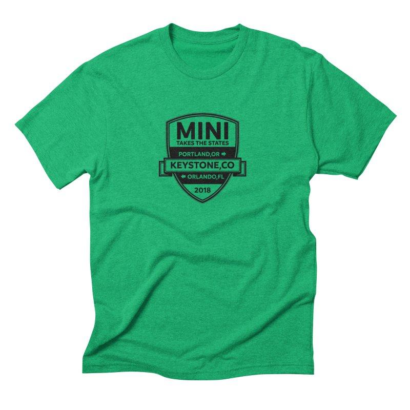 Mini Takes the States 2018 (Black) Men's Triblend T-Shirt by TwistyMini Motoring Shirts
