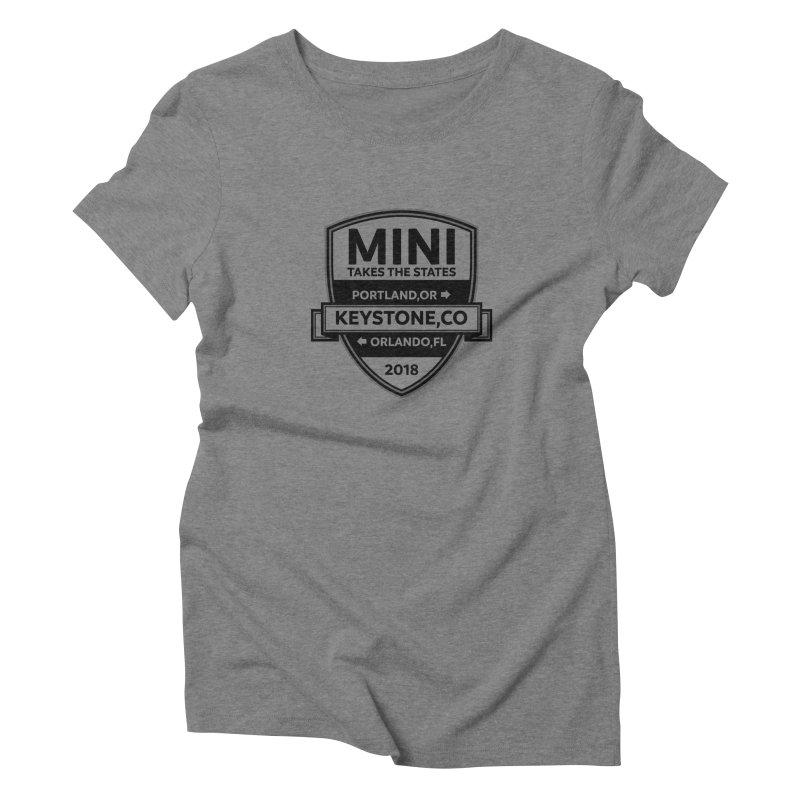 Mini Takes the States 2018 (Black) Women's Triblend T-Shirt by TwistyMini Motoring Shirts