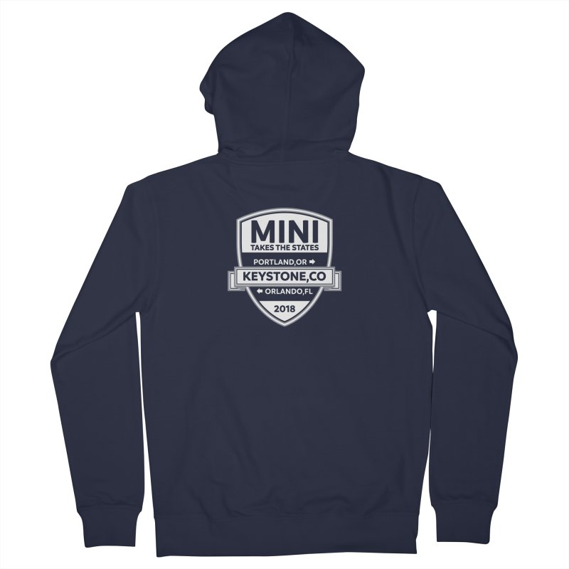 MTTS 2018 - White Men's French Terry Zip-Up Hoody by TwistyMini Motoring Shirts