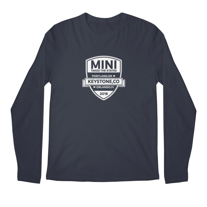 MINI Takes the States 2018 (White) Men's Longsleeve T-Shirt by TwistyMini Motoring Shirts