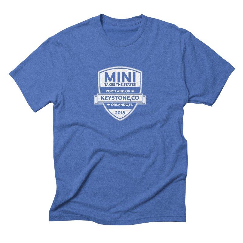 MTTS 2018 - White Men's Triblend T-Shirt by TwistyMini Motoring Shirts